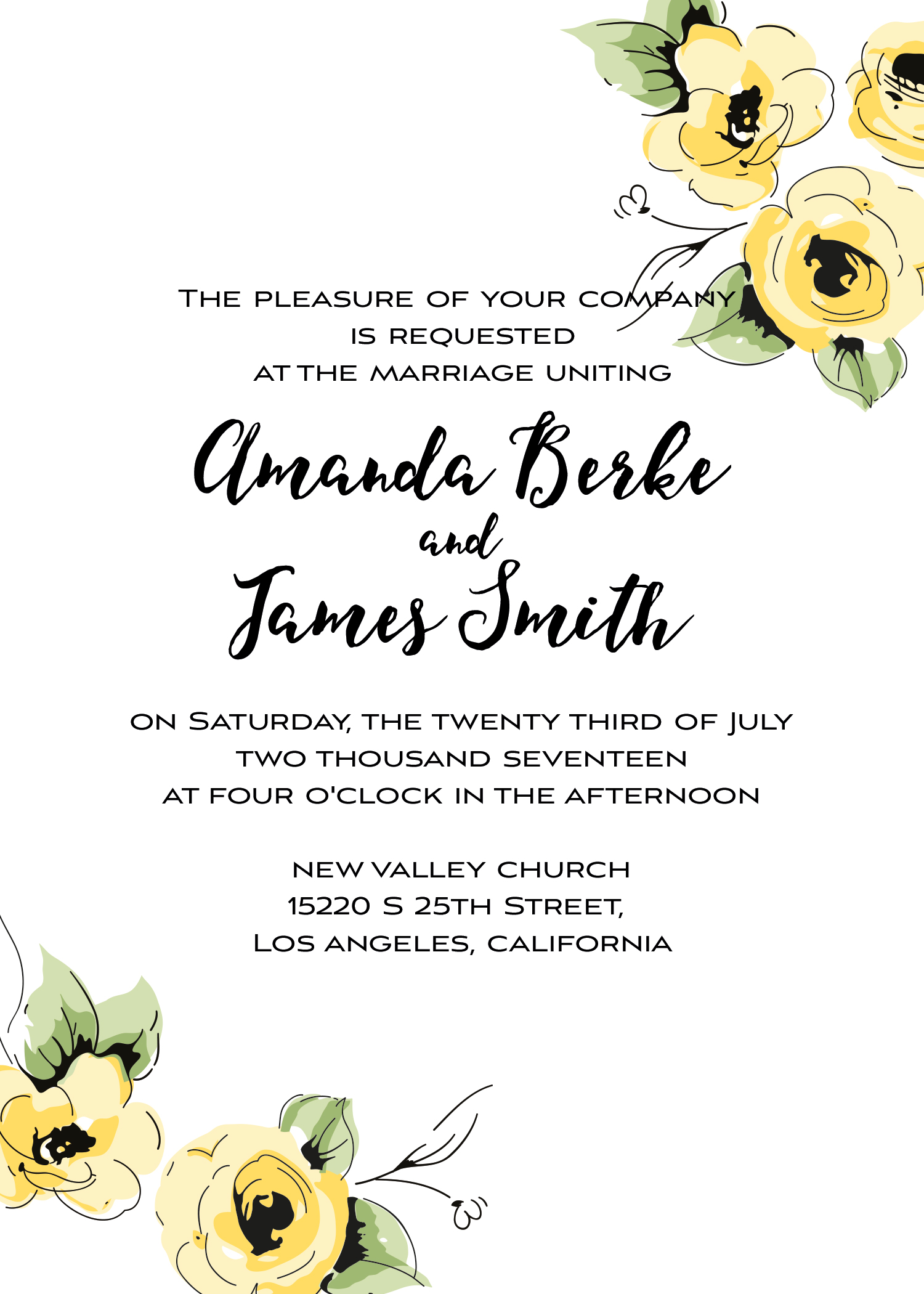 Wedding kit invitation template  1