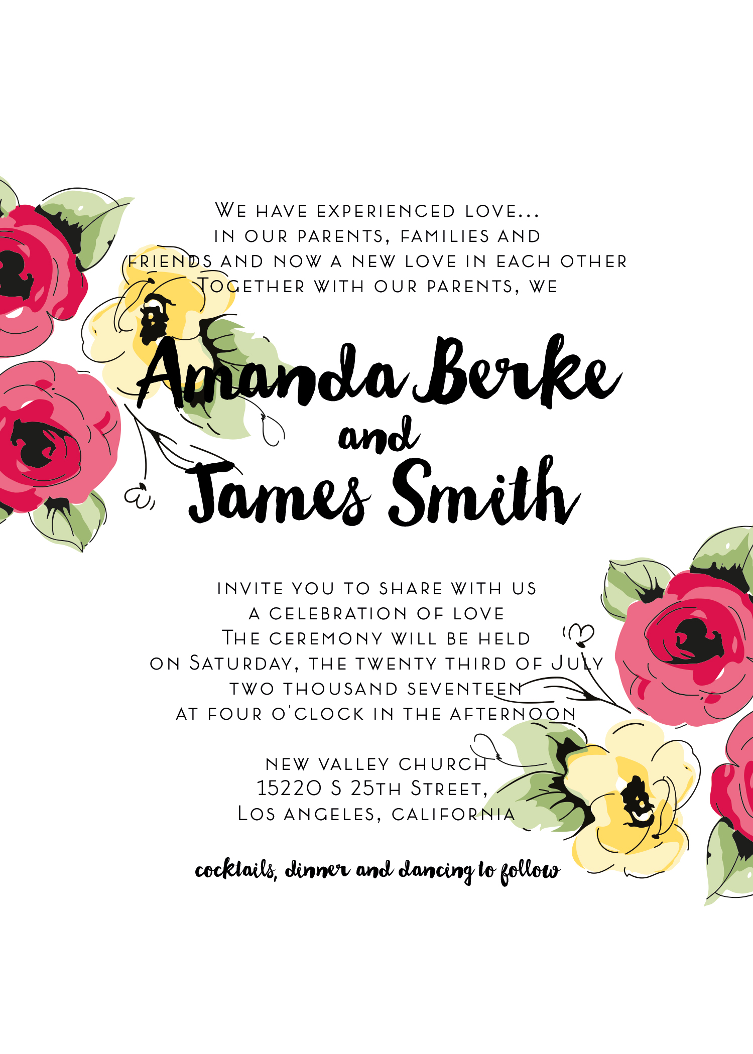 Wedding kit invitation template  4