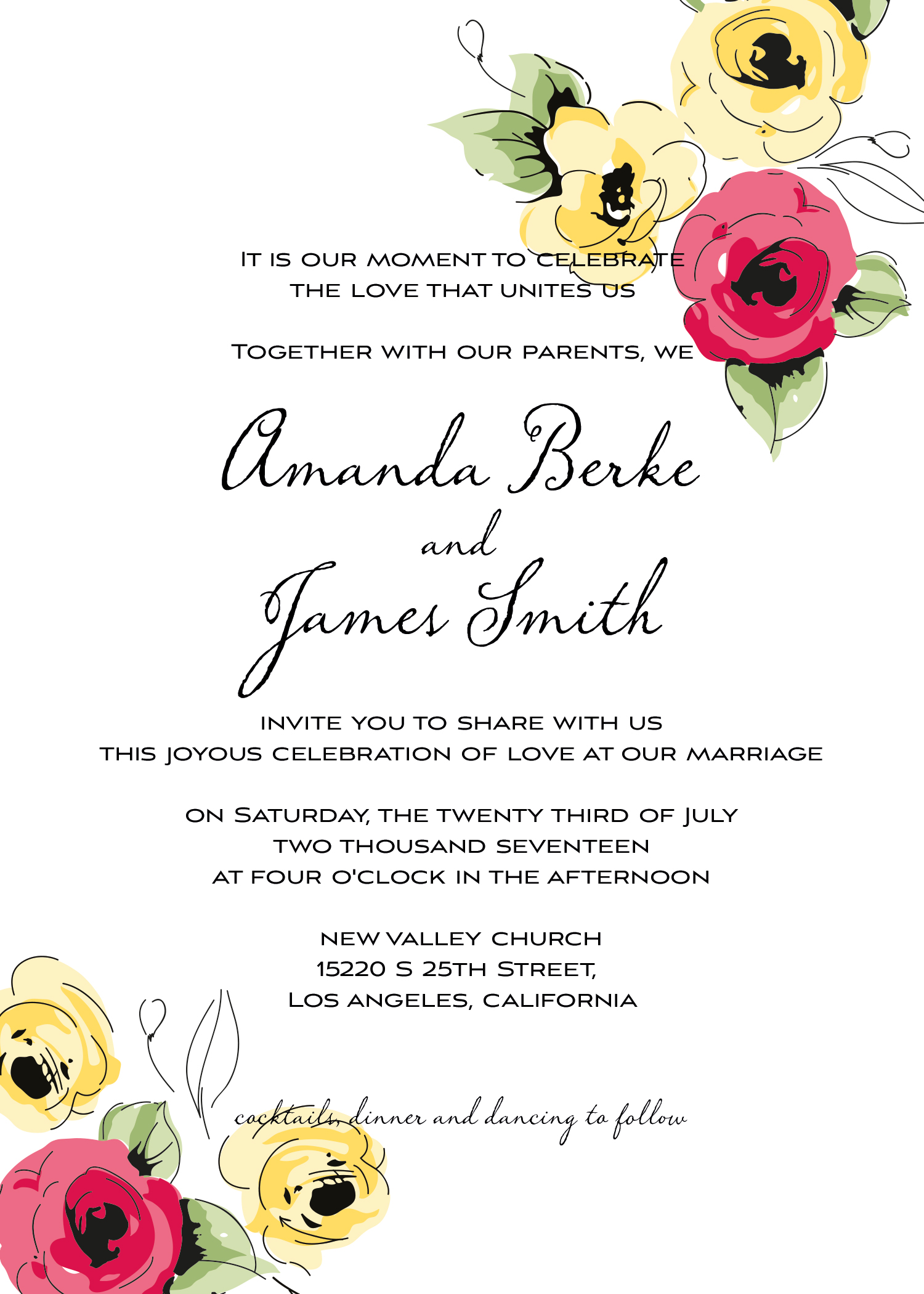 Wedding kit invitation template  7