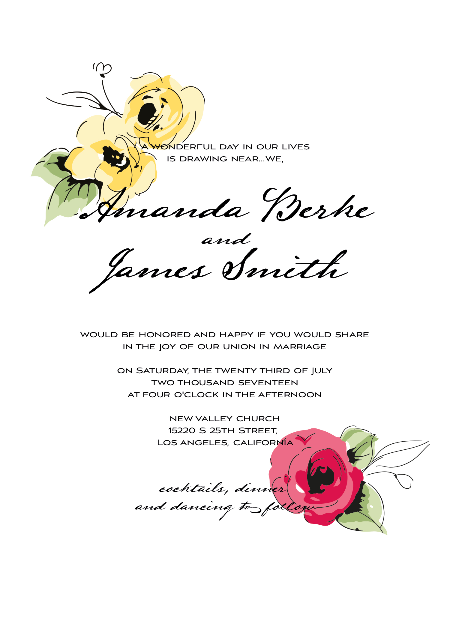 Wedding kit invitation template  9