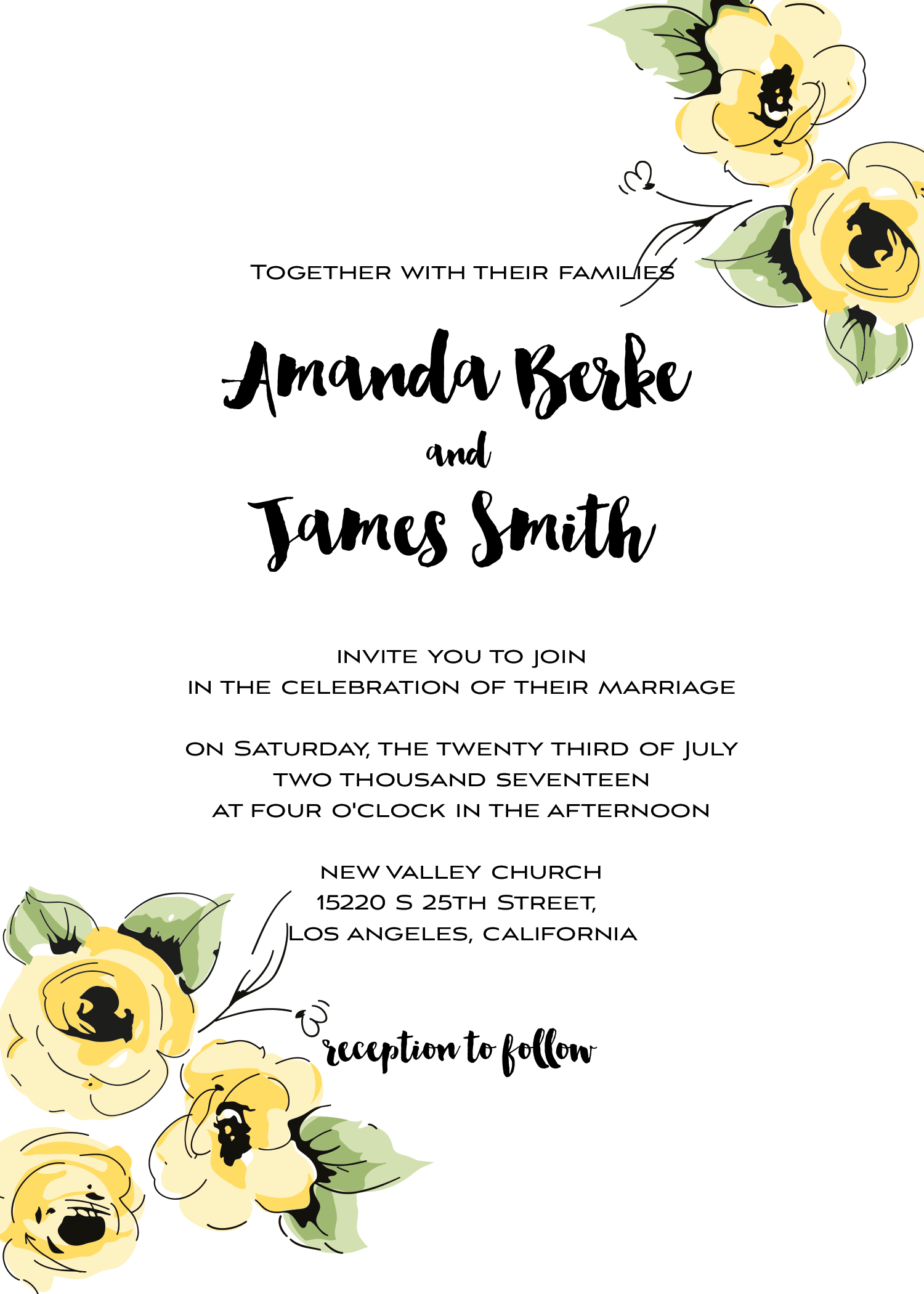 Wedding kit invitation template  11