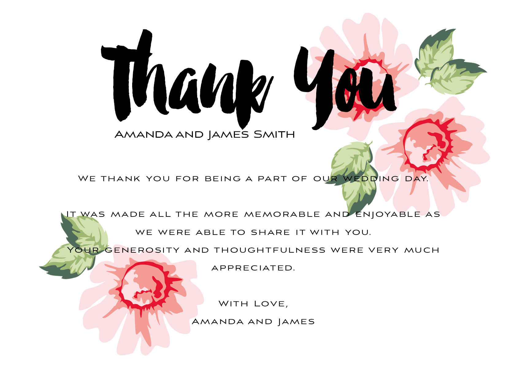 Thank you kit wedding thank you template  3