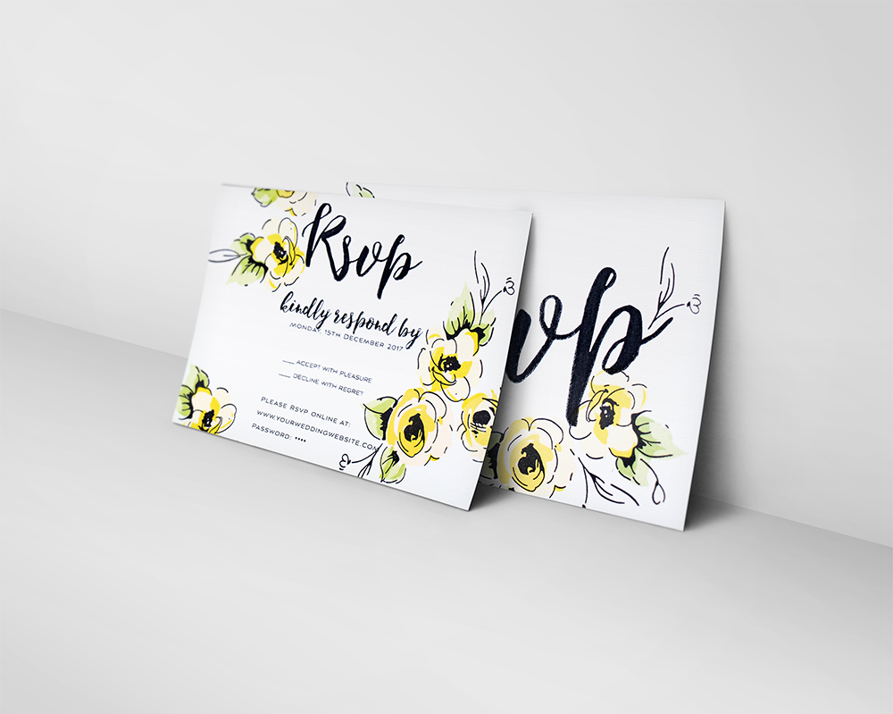 Rsvp online card   template cover